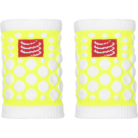Compressport 3D Dots Opaska na nadgarstek, fluo yellow